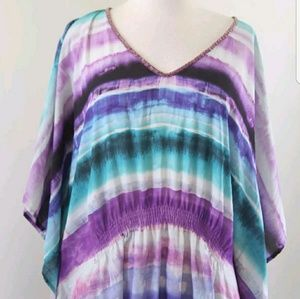 Lane Bryant Purple beach Blouse